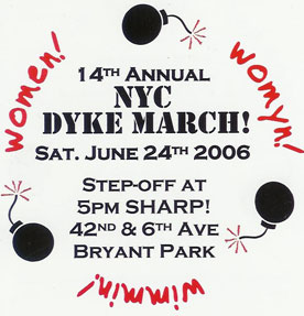 Dyke March Card