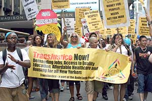 Trans March photo from Workers World